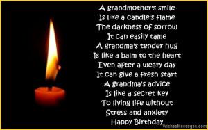 Happy Birthday Poems For Grandma From Granddaughter
