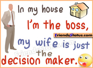 Funny Husband Quotes Sayings Funny boss and wife status