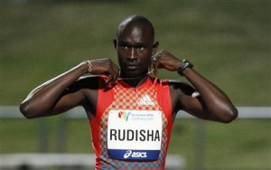 David Rudisha of Kenya prepares to compete in the men's 400 metre ...
