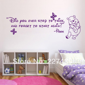 Winnie the pooh quotes wallpaper quotesgram for Small room quotes