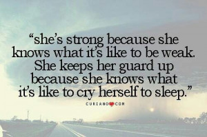 She's strong because