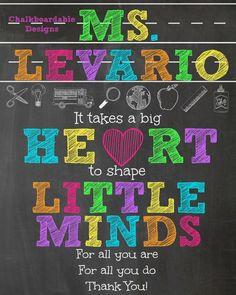 teacher appreciation chalkboard printable more appreciation ...
