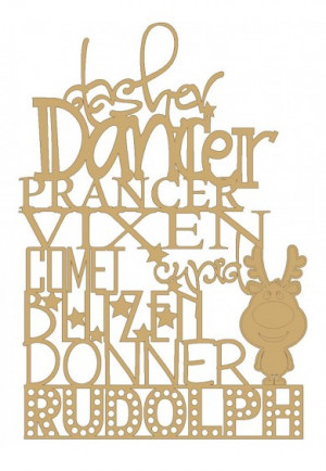 Reindeer Sign with Rudolph Standing - Laser Craft Shapes by Crafty Pig ...