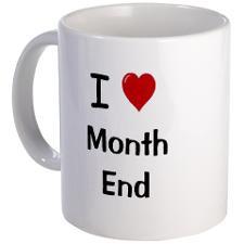 Financial Accountant Coffee Mug - I Love Month End Coffee Mug