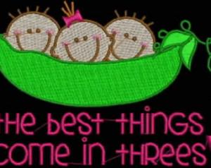 Personalized Triplets Twin s Baby Shower Daycare Preschool Newborn Mom ...