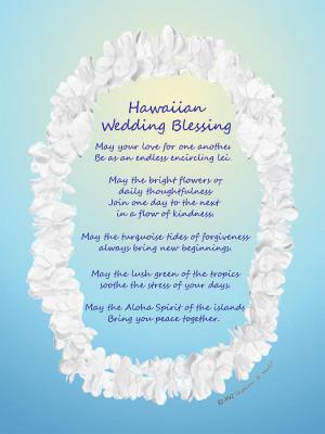 Hawaiian Wedding Blessing Drawing