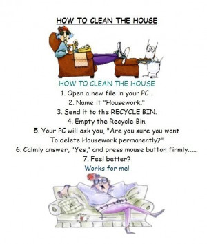 Mute Monday: Funny Cartoon About Housework. (I know All Women Will ...