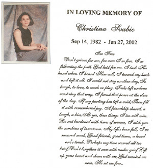 Christina Svabic_In Loving Memory