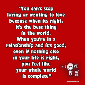 YOU CAN'T STOP LOVING....