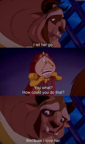 cries* Beauty and the Beast --- I got so choked up on this part... .