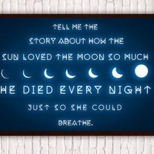 Full Moon // Geometric Romantic Typographic Quote // Waxing & Waning ...