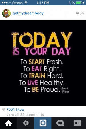 Just start today!