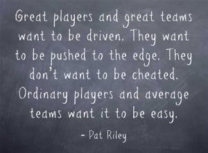 pat riley quotes excellence is the gradual result of always striving ...