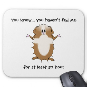 Abyssinian Guinea Pig Sayings Mouse Pads
