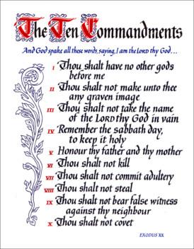 Satanic Bible Verses Commandments Bible 10 commandments