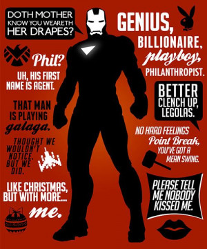 Iron Man quotes from Avengers. They left out,