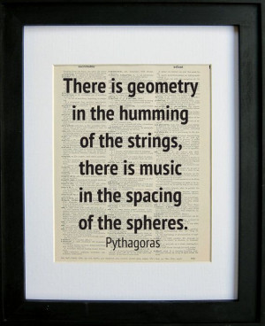 Geometry quote printed on a page from an antique dictionary