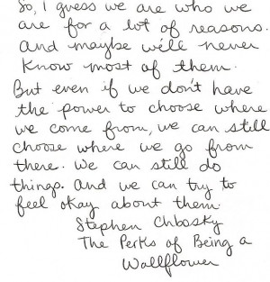 Perks of being a wild flower