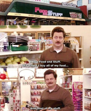 Ron Swanson knows who he is and what he likes. He is perhaps the most ...