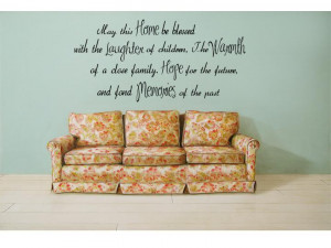 Details about HOME LAUGHTER WARMTH HOPE MEMORIES Wall Quote Lettering ...