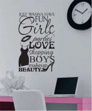 Vinyl Wall Lettering Quotes Teen Girls Love Shopping Boys Subway Art ...