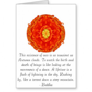 Beautiful Buddhist Quote with inspirational photo Cards