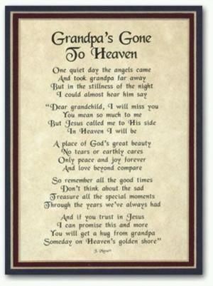 grandpa in heaven quotes