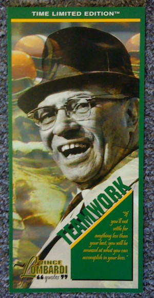 Vince Lombardi Green Bay Packers 1997 Classic Collectibles Quotes ...