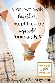 Scripture Sunday (Amos 3:3 KJV) @ Managing Your Blessings