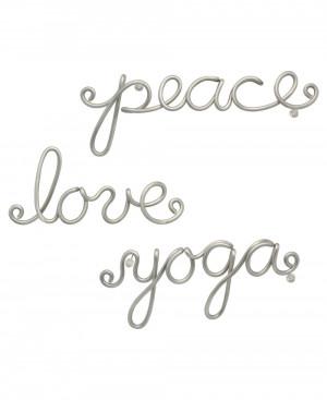Peace Love and Yoga Aluminum Wall Art (Usa)