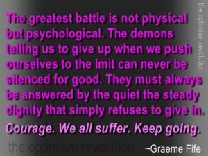The inner demon voice...