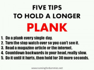 How to improve your planks
