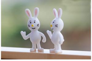 sale~10Pcs/ say hello bunny/miniatures /lovely cute/fairy garden gnome ...