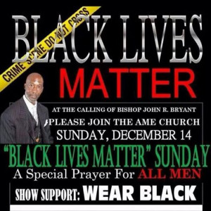 ... black to church. Wearing black is intended to send a message that