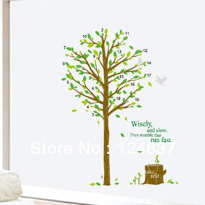 50*70cm flowers wall sticker Butterfly stickers quote poster decals ...