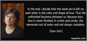 More Sara Zarr Quotes
