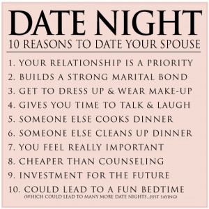 10 reasons to date your spouse
