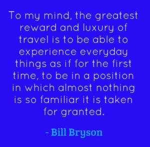 Bill Bryson, best selling author of humorous books on travel.