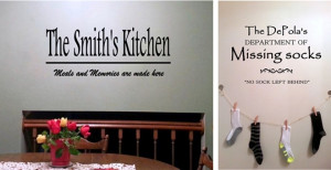 12.99 | PERSONALIZED Laundry, Kitchen or Bath Vinyl Quotes!