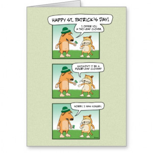 Funny St. Patrick's Day card: Clover