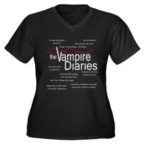 ... > Bennet Womens > Vampire Diaries Quotes Women's Plus Size V-Neck Da