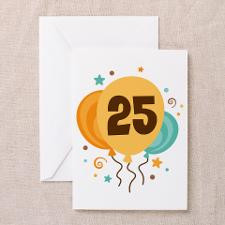 25th Birthday Party Greeting Cards (Pk of 20) for