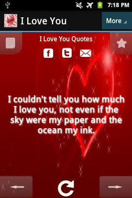 Android アプリ 無料] I Love You Quotes   giveApp de Android