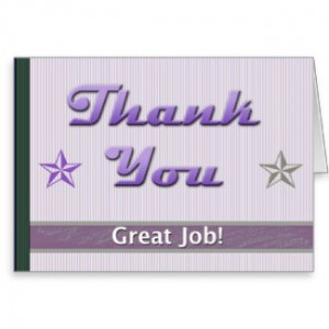 Employee Appreciation Thank You Cards