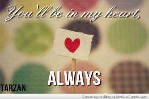 cute disney heart love phil collins pretty quote quotes tarza