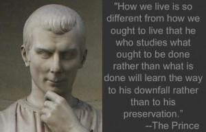 Machiavelli, The Prince, Ch. XV