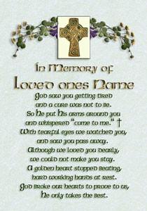 ... bereavement poems, blessings, memorial gifts, irish funeral blessings