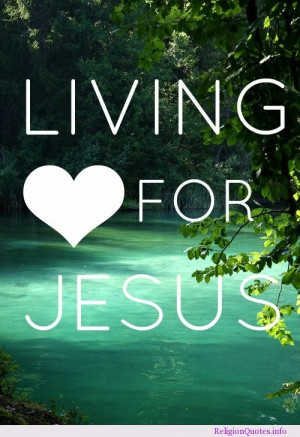 Living for Jesus