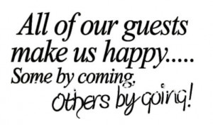 WALL ART WELCOME GUESTS LIFE QUOTE DECAL STICKER NEW VINYL DECORATION ...