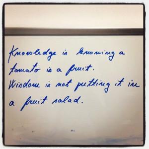 Knowledge Versus Wisdom - Imgur